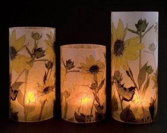 Sunflower Candle Holder for Electric Tea Lights
