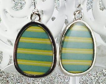 Easter Earrings, Easter Eggs, Easter Egg Earrings, Easter Jewelry, Easter Basket Gift Earrings, Colorful Easter Earrings