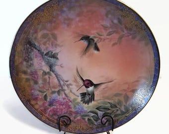 Decorative Vintage Hummingbird Plate, Vintage Decorative Plate, Vintage, Decorative Plate, Hummingbirds Decor, Collectibles, Vintage Decor