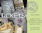 Small & Precious Tickets Pack Printable Tickets Scrapbooking Embellishments Paper Crafting Crafts Digital Download Junk Journal - VDSPTI1635