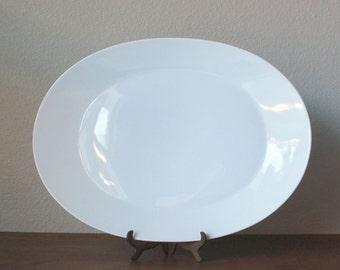 Vintage Rosenthal Continental Classic modern white porcelain modern XL large serving platter