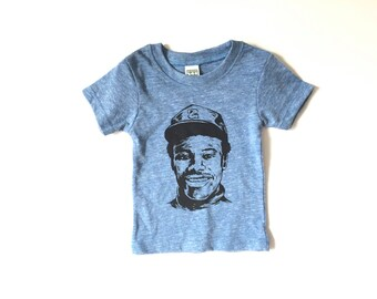 Ken GRIFFEY jr. SEATTLE MARINERS baby blue tr-blend organic cotton toddler kids newborn baby t-shirt