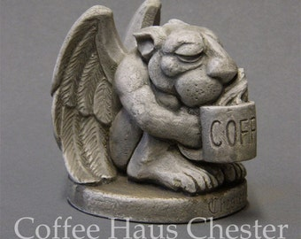 Coffee Haus Chester - Sleepy eyed gargoyle by Jay Hungate