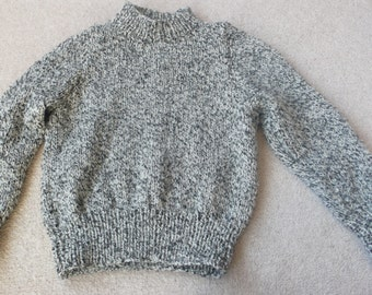 Child's marled acrylic sweater with high neck 3 - 4 yr old