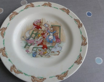 Beatrix Potter Bunnykins 1936 plate Royal Doulton England