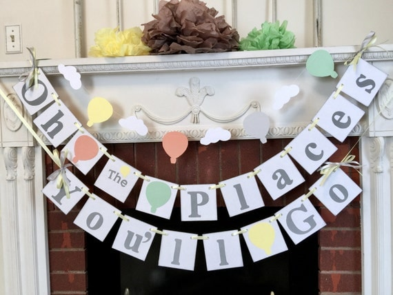 Oh The Places You Ll Go Hot Air Balloon Birthday Decor