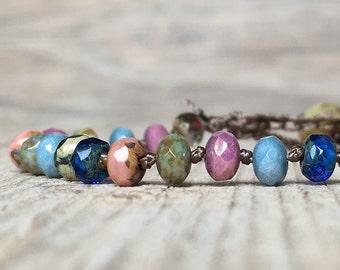 Boho Hippie Beaded Bracelet - artisan bracelet - hippie boho - boho bracelet - hippie bracelet - beaded bracelet - Woman Gift