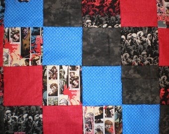 Walking Dead Patchwork Quilt