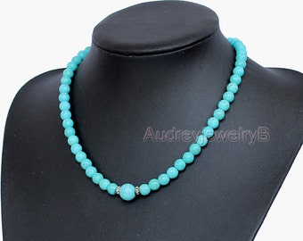 Turquoise necklace turquoise bead necklace wedding necklace statement necklace bridesmaid necklace