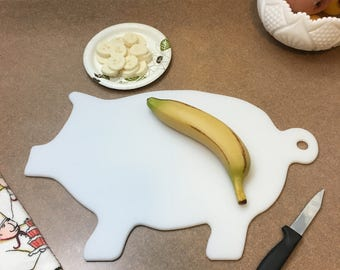 Cutting Board Great Gift !   Pig Cutting Board Plastic Free shipping