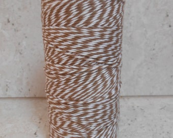 Bakers Twine / Chocolate Brown and White Bakers Twine / Trim / Packing / Gift Wrapping