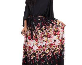 Maxi dress, floral dress, kaftan dress, Loose fit dress, Plus size dress: Funky Elegant Collection No.3p