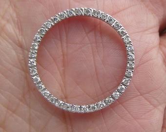 Wonderful diamond eternity necklace...Really bright diamonds in white gold