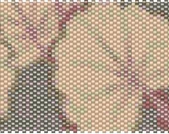 Gingko Peyote Cuff Pattern