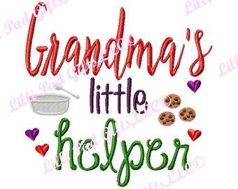Grandmas little helper-cookies - Machine Embroidery - 6 Sizes