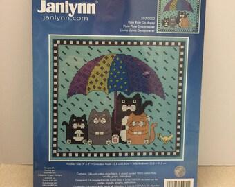 "Janlynn Counted Counted Cross Stitch Kit ""Rain Rain Go Away"" #302-0002"