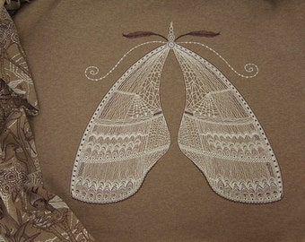 WINTER FAIRIES with WINGS organic cotton jersey