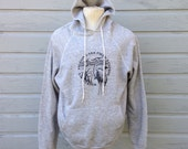 1980's Pigeon Lake Field Station UW System hooded sweatshirt, fits like a large