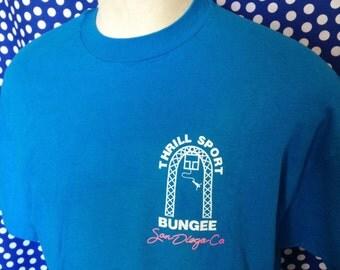 1980's bungee jumping t-shirt, XL