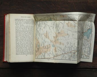 vintage 1920s Lake District travel guide book, The English Lakes