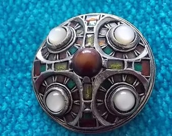 Vintage Celtic Miracle Medieval Brooch Pin - WOW