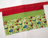 Classroom Apron- insects (red & green)