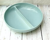 Russel Wright Ice Blue Divided Serving Dish, Iroquois Casual Russel Wright, Ice Blue Russel Wright, Divided Serving Dish, 50's Modern,