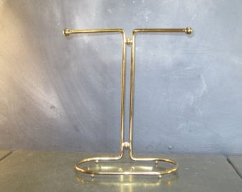 Vintage Free Standing Brass Towel Rack Stand