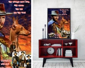 Cirneco dell'Etna Art Vintage Movie Style Poster Canvas Print - The Good, the Bad and the Ugly NEW Collection by Nobility Dogs