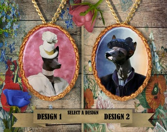 Peruvian Hairless Dog Jewelry. Peruvian Inka Dog Pendant or Brooch. Peruvian Hairless Dog  Necklace. Custom Dog Jewelry by Nobility Dogs.