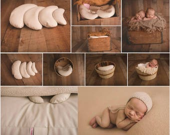 Newborn Posing Beans 4Pk. SALE! Photography. Baby Prop. Pillows. Studio Poser. Bean Bag