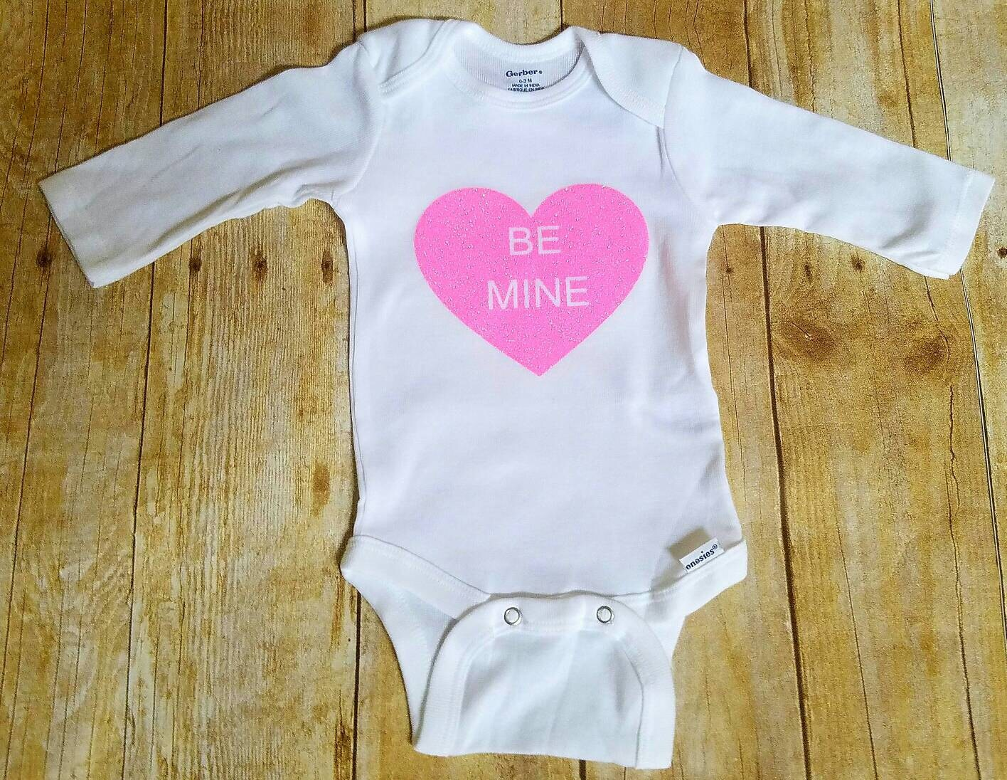 Valentine's Day sleeper baby clothes Valentines Day
