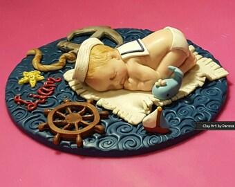 Baby Sailor keepsake cake topper