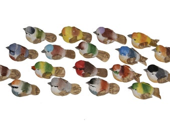 18 pc 1 1/4 Inch Mini Bird Assortment D, Craft Birds for Floral Arranging, Parties, Costumes, Decorating, Weddings