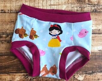 Princess underwear/ Snow White look-a-like/ toddler underwear/ potty training underwear/ Potty training pants/ girl underwear