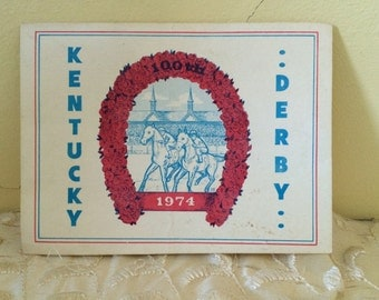 1974 100th Kentucky Derby Religious Card Churchill Downs
