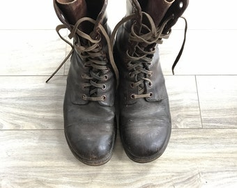 Vintage Endicott Johnson Korean War Era Boots Size 9-1/2
