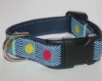 Summer Dog Collars Navy Dot Dog Collar and Leash TUla PInk Leash and Collar Set  Nautical Dog Leash Turquoise  and Navy Dog Collar Set