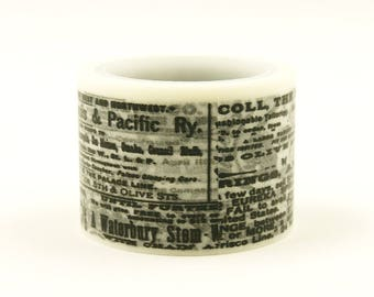 Black note - Japanese Washi Masking Tape - 30mm wide - 5.5 Yards