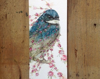 Bookmark with swallow