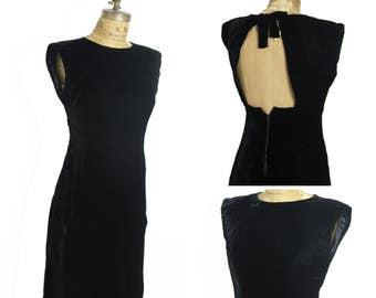 1960s Mod Velvet Dress