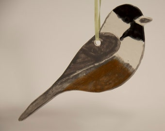 "Ceramic Chikadee Ornament - ""B"""