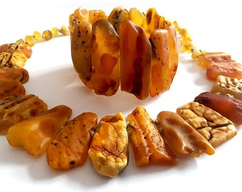 Baltic See Baltic Amber Necklace and Bracelet, X mas gift, Natural Baltic Amber, Christmas gift