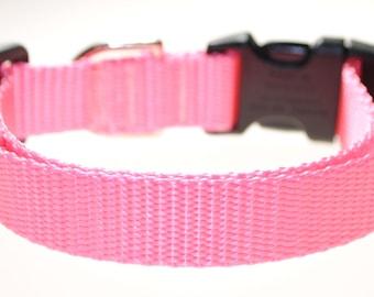 "Light Pink 3/4"" Width Adjustable Collar"