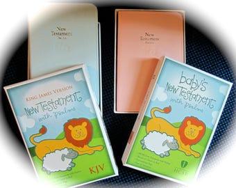 Personalized Baby Bible Keepsake New Testament Engraved Baby Girl Baby Boy Bible Christening Baby Shower Gift Nursery Gift Baby Dedication