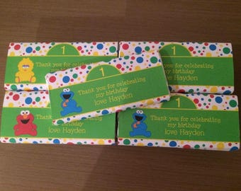 Sesame Street inspired chocolate wraps