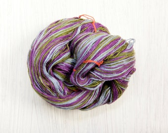 Silk Lace Weight Thread Yarn - Eggplant in the Garden