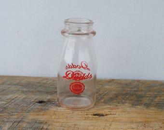 Vintage Dodd's Sealtest Half Pint Glass Milk Bottle