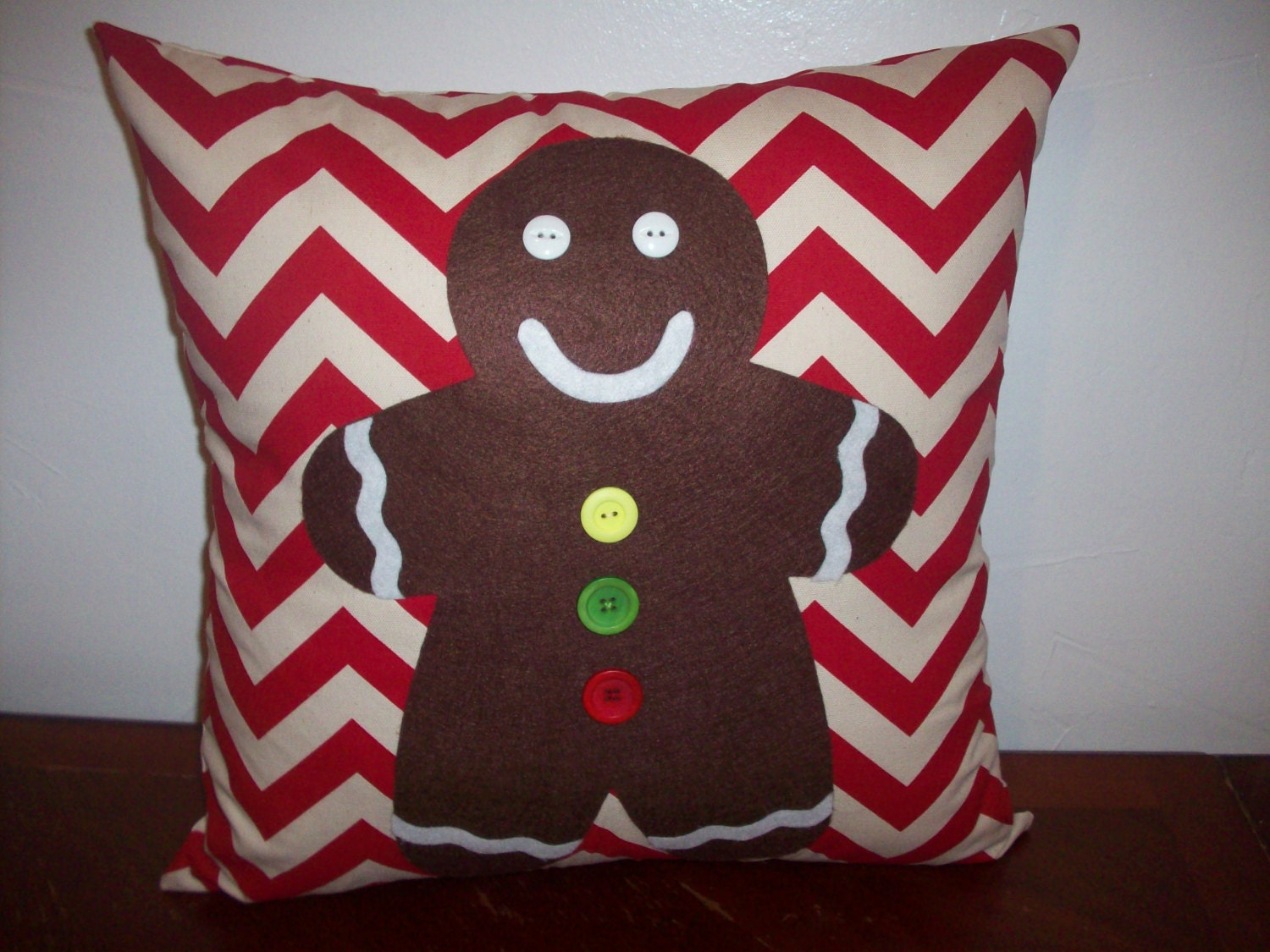 Christmas Pillow Covers 26x26: Gingerbread Man Pillow Cover  Christmas Pillow  Holiday Pillow    ,