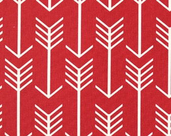 Red and Natural Arrow Curtains  Rod Pocket  63 72 84 90 96 108 or 120 Long by 24 or 50 Wide